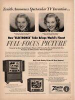 1951 ORIGINAL VINTAGE ZENITH RADIO &  TELEVISION MAGAZINE AD **