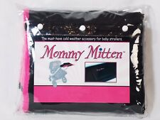 Mommy Mitten Stroller Hand Warmer Handlebar Cover Fleece Lined Black Hot Pink