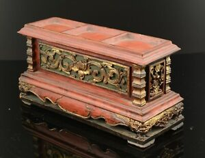 "Offering box ""Chanab"". Carved and polychrome wood. XIX century."