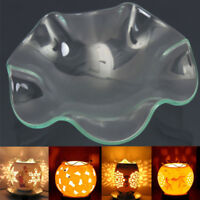 Glass Aroma Wax Dish Clear For Electric Fragrance Lamp LED Oil Warmer Decor Tool