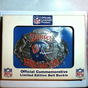 NEW! 1987 SISKIYOU DENVER BRONCOS NFL FOOTBALL BELT BUCKLE #6255