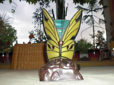 Schmetterling Lampe gelb - Tiffany Stil Tisch Leuchte Nachtlicht Tischlampe