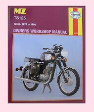 1270 Haynes Manual MZ  TS TS125 Alpine & TS125 Luxus 1976 to 1986