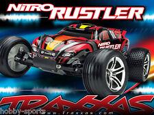 Traxxas Nitro Rustler 2.4GHz Truck W/ TSM TRX 2.5 Engine Batt/Chg TRA440963