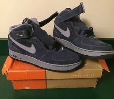 MENS NIKE AIR FORCE 1 MID OBSIDIAN/STEALTH SNEAKERS SHOES SIZE 11.5  2005 DS