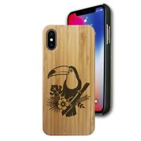 Bamboo Case Compatible with iPhone X, Xs, XR, Xs Max - Toucan
