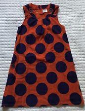 37b98279cacc Mini Boden Orange/Purple Polka Dot Corduroy Dress Girls Sz. 11/12