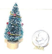 Dollhouse Miniature Christmas Tree Bottlebrush Table top Style 1:12 Scale