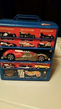 Hot Wheels Rolling Suitcase Car Carrier 100 Cars Mattel Stickers Blue Case Nice
