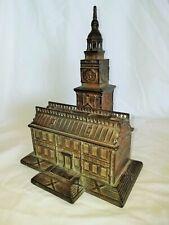 "Original Antique Enterprise ""Independence Hall"" Large Cast Iron Still Bank"