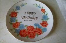 "Vintage Happy Birthday 6 1/2"" Plate Made in Japan by Sangamon"