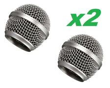 2x  Replacement Mesh Microphone Head Ball Grill for Shure SM58, AKG, Sennheiser