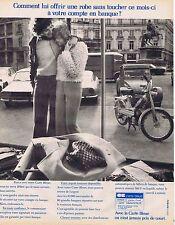 PUBLICITE ADVERTISING 045 1973 CARTE BLEUE on n'est jamais pris de court