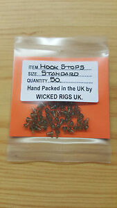 Trans Green Hook Stops x 50.Pop Up,Chod.Hair Rigs etc + 100 Boilee Stops Free