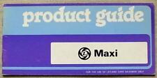 AUSTIN MAXI Confidential Car Salesman´s Product Guide April 1978 1500 1750 HL