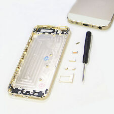OEM Gold Metal Replace  Battery Door Housing Back Cover Case For  Iphon 5S