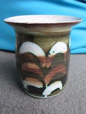 Studio pottery earthenware vase MJC seal