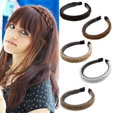 Women Braided Synthetic Plait Plaited Elastic Hair Accessories Band Headband AU