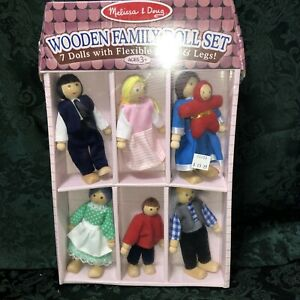 Wooden Doll Set Melissa and Doug New In Package.