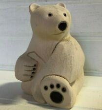Artesania Rinconada Polar Bear Retired Figurine Uruguay Art Pottery Handmade