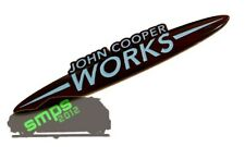 Mini R53 JCW Custom John Cooper Works Badge Black & Blue 134mm x 25mm *SMPS2012*