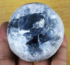 395g Rare Top Grade Gorgeous Sky Blue Celestite Sphere Geode Rough Reiki Crystal