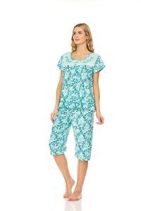 5202C Women Capri Set Sleepwear Pajamas Woman Sleep Nightshirt