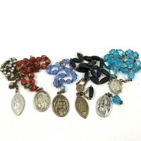 5 - Vintage St Anne, Mother of Mary Chaplet / Bracelet / Rosary with prayer card