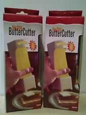 2 RED One-Click Butter Cutters - Butter Pat Dispensers - Slices, Serves & Stores