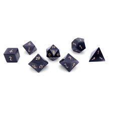 Purple Cats Eye 7 Piece RPG Dice Set Gemstone