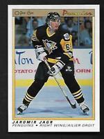 1990-91 OPC O-Pee-Chee Premier #50 Jaromir Jagr RC Penguins Rookie Card MINT