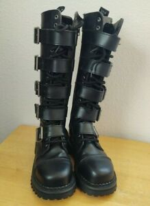 Demonia Women's Shoes Boots, Black, Pleather Size 4.0 Tall Calf