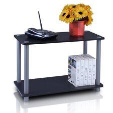 Furinno 2-Tier Mini Shelf Black-Grey 11250Bk/Gy Table New