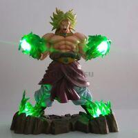 RARE Dragon Ball Z Broly Action Figures Super Saiyan Green Power Led Light