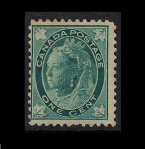 canada stamps - 1897 1c blue/green maple leaf issue-  mint NG hinged sg143