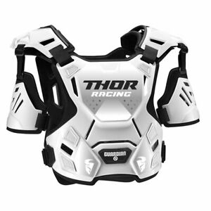 Thor Guardian Youth Motorcycle Motorbike Off Road Chest Protector White / Black