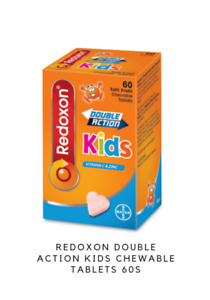 Redoxon Double Action Kids Chewable Tablets 60s