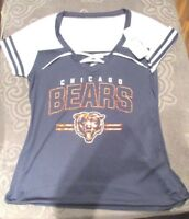 New VINTAGE NFL CHICAGO BEARS BLUE MESH FOOTBALL JERSEY WOMENS SIZE  for sale