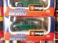 BURAGO FIAT BRAVO  VERDE COD. 4145 F 1/43  FONDO DI MAGAZZINO VINTAGE TOYS