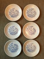 Vintage Tams Small Plates Made In England Blue Floral Design