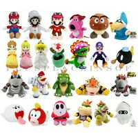 Best Xmas Holiday Kids Gift Super Mario Bros Plush Toy Koopa Bowser Mario 5-14''
