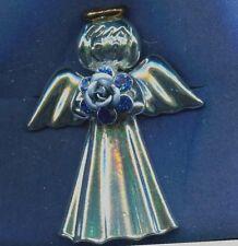Angel Rose   Brooch , Blue  Rose