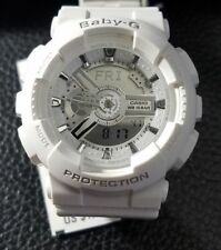 51bbd0f7a1d6d Casio Women s Baby-G Analog Display Quartz White Watch BA110-7A3