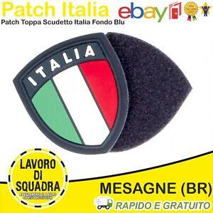 Patch Toppa PVC Scudetto ITALIA Tricolore Gomma Polizia Uniforme Marina Militari