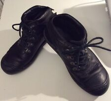 Keen Black Leather Boots Sz 8