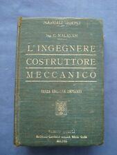 INGEGNERIA-MALAVASI-VADEMECUM PER L'INGEGNERE COSTRUTTORE MECCANICO-HOEPLI 1916