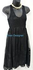 FREE PEOPLE Sleeveless Black Lace DRESS Cocktail Evening Sexy tank layer 0 NWT