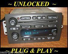 UNLOCKED 02-03 CHEVY Trailblazer GMC Envoy BOSE 6 Disc CD Changer Radio Player