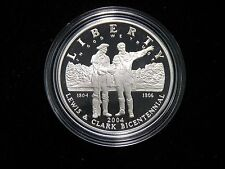 2004 LEWIS AND CLARK PROOF SILVER DOLLAR COMMEMORATIVE