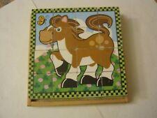 Melissa & Doug Farm Cube Puzzle, Wood Blocks, 7 x 7, 6 Pictures (005-4)